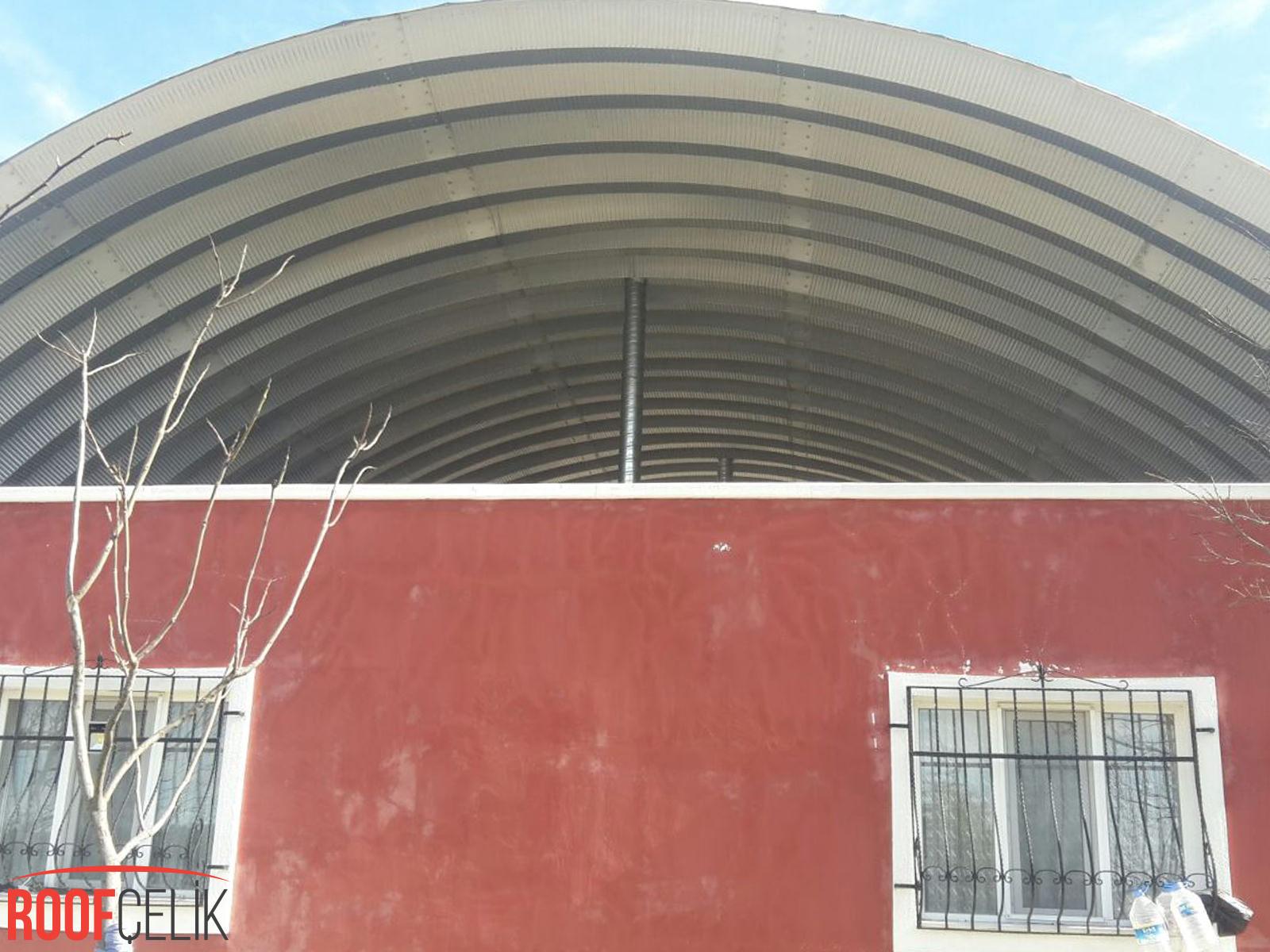 Roof Çelik Orhaneli Göktepe Müstakil Ev Şantiyesi